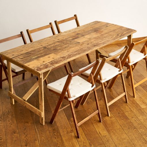Vintage table and 1940's Chairs