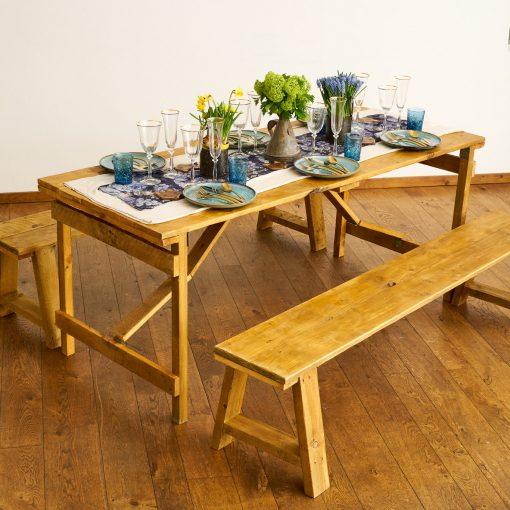 Farmhouse table love vintage