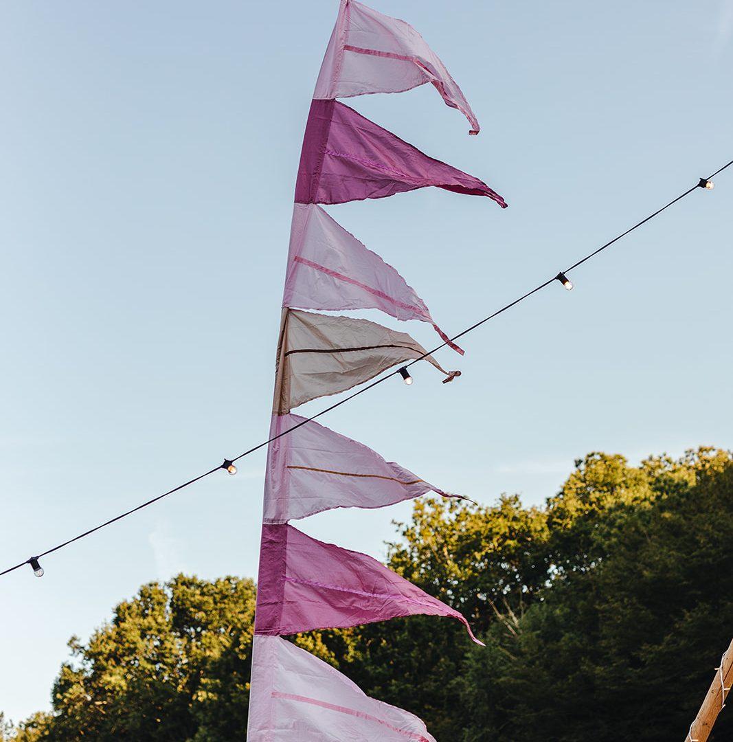 Pink festival flag