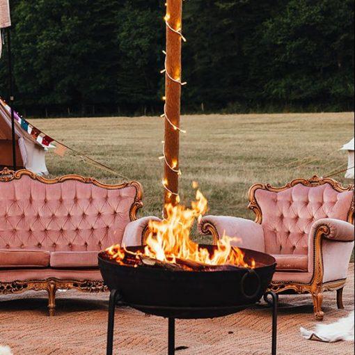 fire pit love tipis